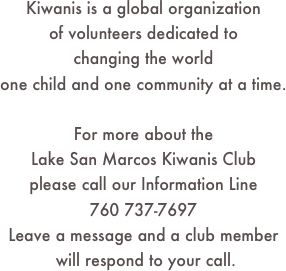 Kiwanis is a global organization 